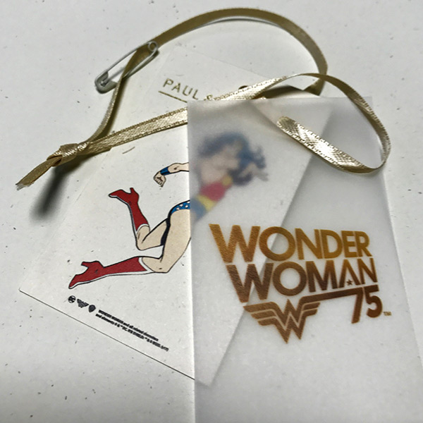 Hang tag wonder woman